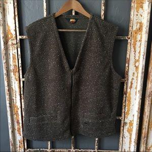 REI Brown Zip Front Outdoorsman Vest Size L